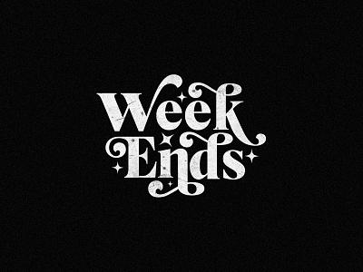 Weekend feels minimalist logo minimal texture typo vector design illustration weekend type typedesign typography art typographic typogaphy