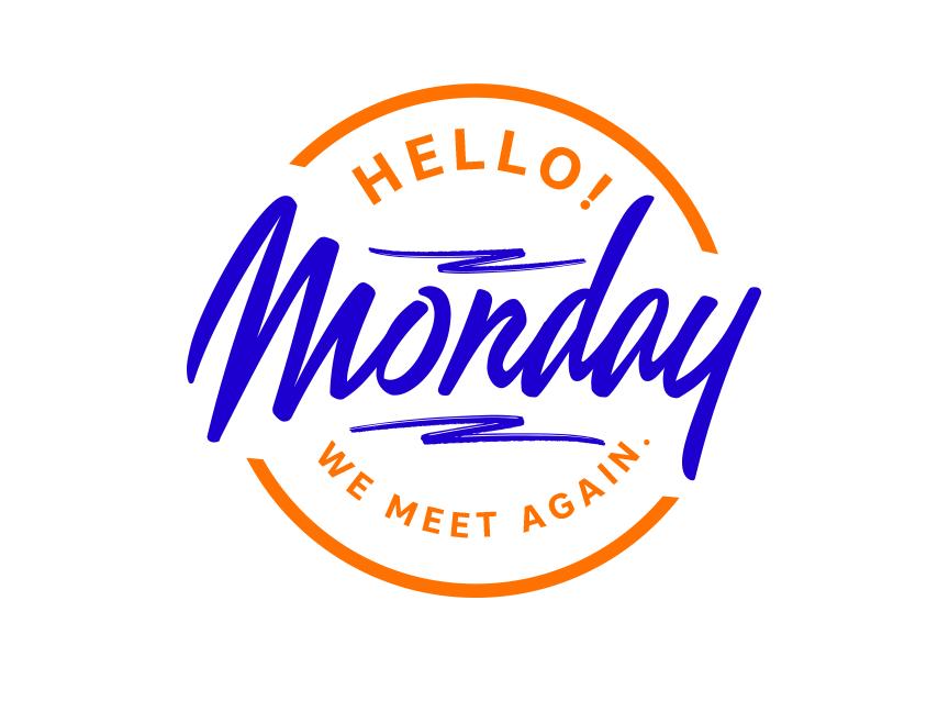 Monday minimalist logo minimal logo badge logo badgedesign mood monday