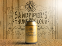 Thunder Brewing Beer Label