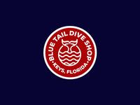 Blue Tail Dive Shop logo