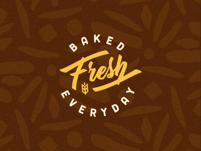 2 of 3 badge design for Bread Box brand identity.