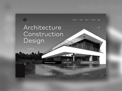Architecture website concept