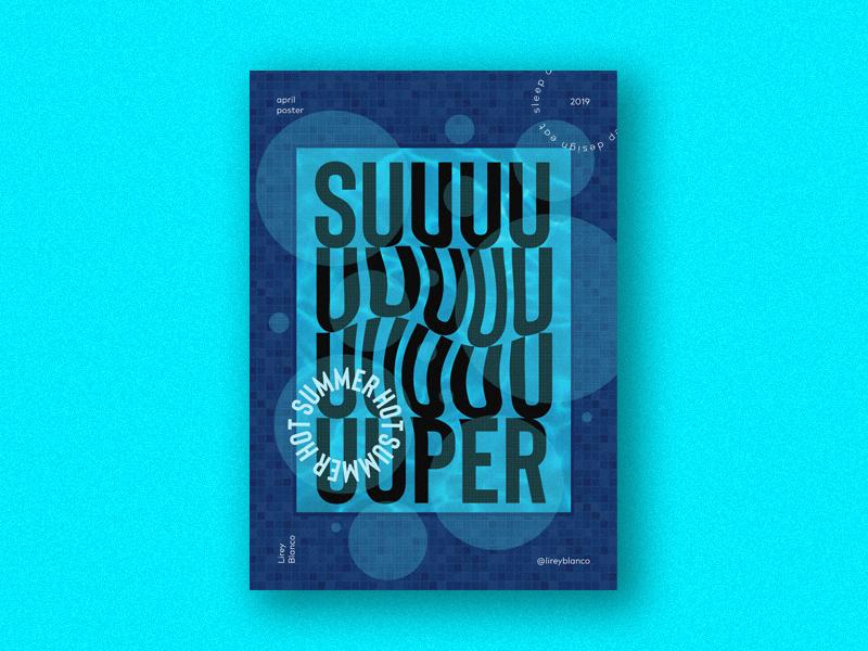 Suuper hot summer design typography vector type art typedesign type design illustration poster a day summer poster design poster art poster