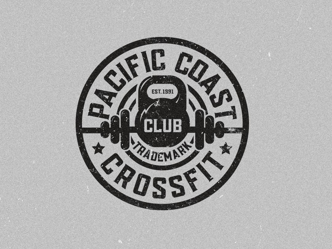 Crossfit Logo gym logo crossfit fitness logo minimal design badgedesign illustration vector logodesign badge badge logo logo