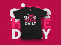 Give Hope Daily shirt design