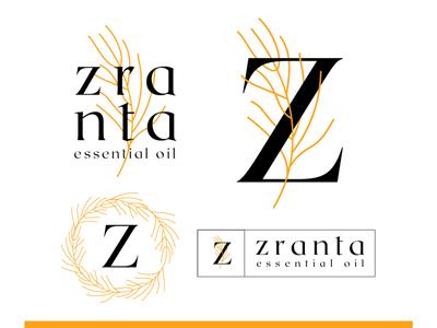 Zranta essential oil logo concept