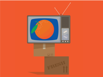Channel Orange frank ocean music vector illustration flat