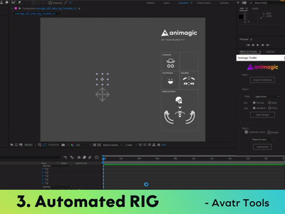 Animagic Avatr Toolkit 1.0 personal illustration design animation after effects ae character avatar script animation