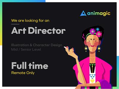 We're hiring! mograph design character 2d motion graphics character design concept concept art photoshop illustration