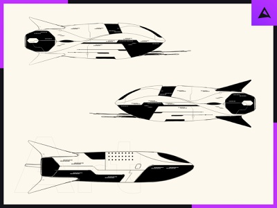 Spaceship Concept Art animation rocket spaceship space sketch photoshop illustration