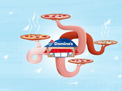 Pizza! concept photoshop styleframe concept art dominos pizza