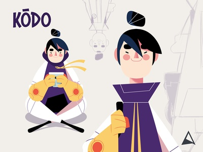 Animagic Crew - Kōdo illustration photoshop team crew kodo japan code sketch concept animation character design