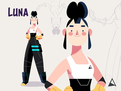 Animagic Crew - Luna illustration photoshop team crew moon climbing canada luna sketch concept animation character design
