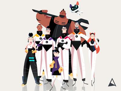 Animagic Crew motion graphics family group teamwork illustration photoshop team crew sketch concept animation character design