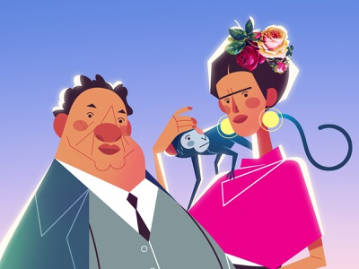 Frida & Diego diego frida mexico 2d character design concept art concept photoshop illustration animation