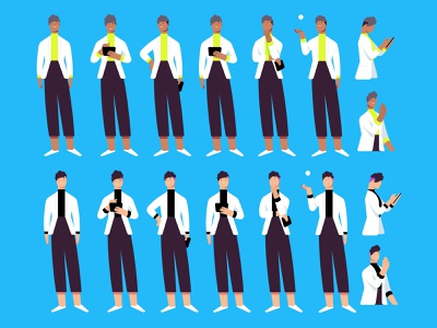 Character Iterations team after effects sketch mograph design character motion graphics character design 2d concept concept art photoshop illustration animation