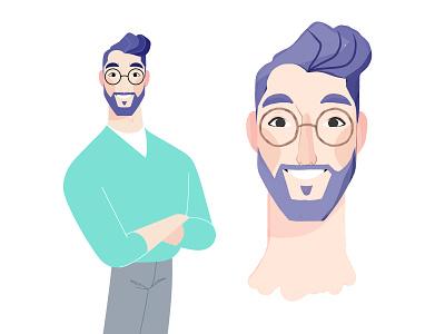 Character Development - Ken design character character design 2d concept concept art photoshop illustration animation