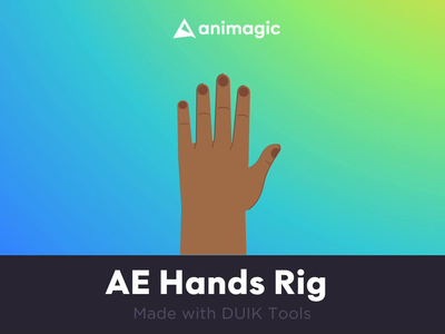 Hand AE Rig rig mograph character 2d motion graphics animation