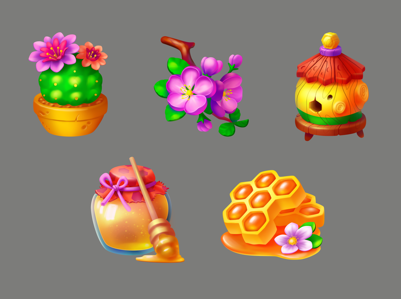honey icons game icons game art