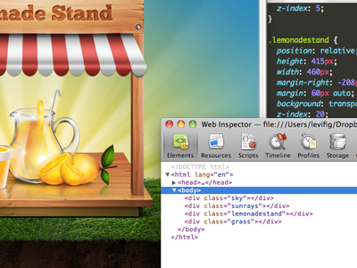 Lemonade Stand: Teaser comingsoon splash html5 css3 jsmagic mediaqueries