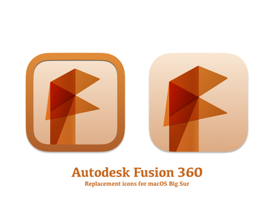 Autodesk Fusion 360 Replacement Icons (Big Sur) sketchapp macos big sur macos fusion360 autodesk icon