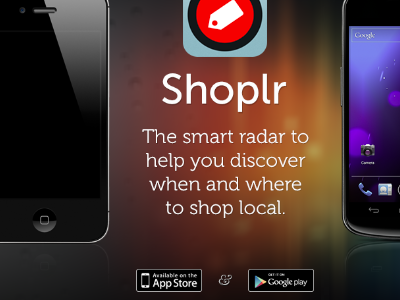 Get Shoplr landing page shoplr iphone android