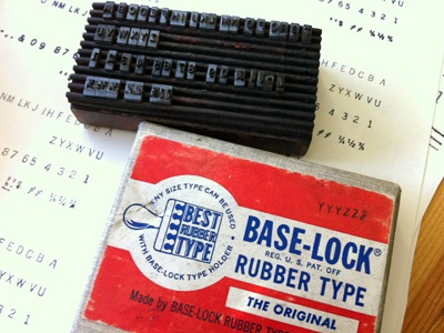 Base-Lock® Rubber Type font brolly stamp gothic