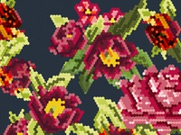 """""""Ave Cesaria"""" pattern close up"""