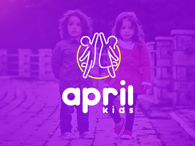 April Kids Logo Logomandesign By Kamran Yahyayev On Dribbble