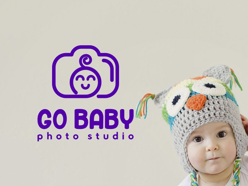 Go Baby Photo Logo Design logoinspire azerbaijan modern minimalism brand branding art logotype graphicdesign creative illustration vector designer logo design photo studio photo photoshop baby logo baby logo