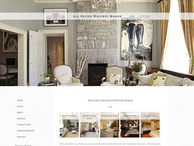 Boutique Hotel Website hotel minimal white website site design inn parallax scroll clean