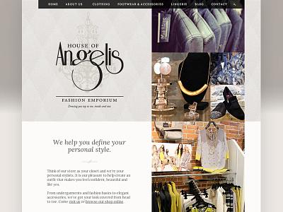 House of Angelis Shopify Theme shopify ecommerce theme custom design website web design silver clothing shop shopping