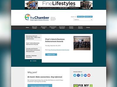 Kingston Chamber of Commerce Website website web design design layout chamber of commerce business organization