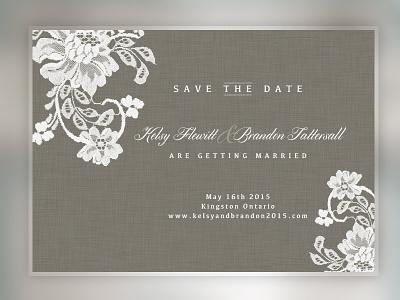 Save The Date Idea save the date invite wedding design graphic design paper print lace texture