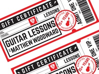 Guitar Lesson Gift Certificates