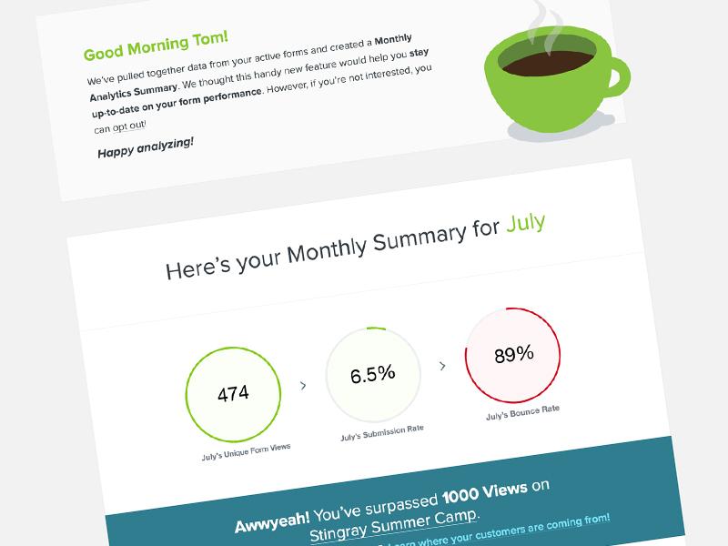 Analytics Email Monthly Digest data web eblast digest monthly analytics email