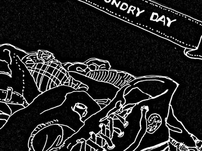 Laundry Day designersmx music illustration hand drawn drawing ink