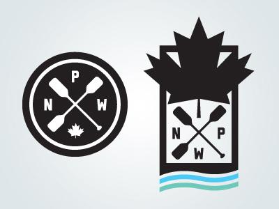 National Paddle Week Unused Logo Concepts logo paddle water sport sports identity logotype badge icon canada boat