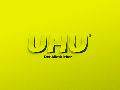 UHU 🍯 logo typography 3d vector directory advertisement artwork art direction director advertising illustration design branding