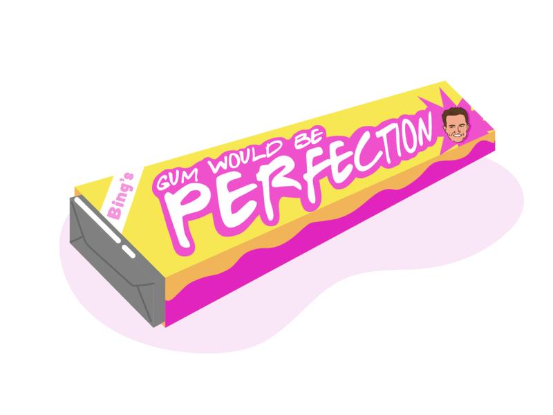Gum Would Be Perfection chewing gum gum friends adobe illustrator design vector illustrator illustration