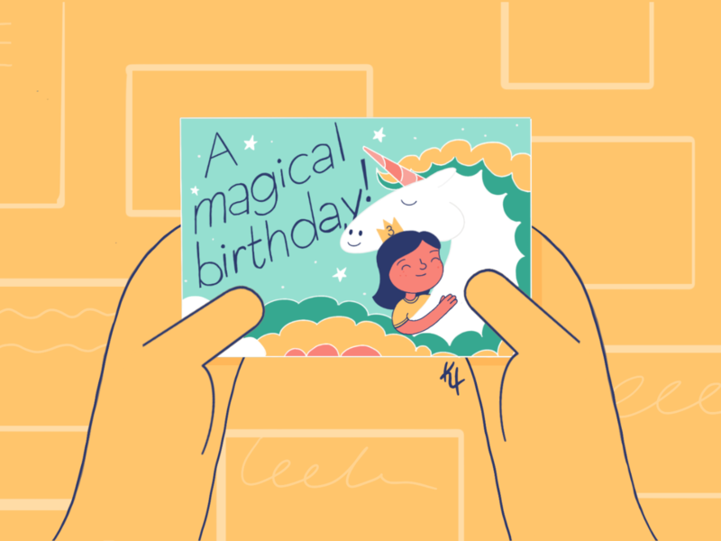 A magical birthday design procreate female character character concept character creation character digital painting illustration