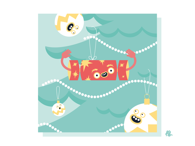 Just a little Christmas Cracker character concept character creation vector character illustrator design illustration