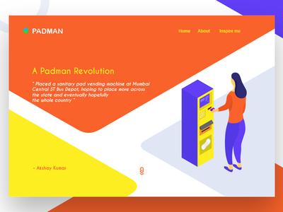 PADMAN Landing Page