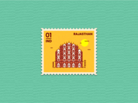 Stamp illustration - Rajasthan