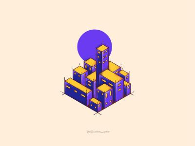 Isometric Bulding 1 icon house graphicdesign adobe dribbble muzli usemuzli vector illustrator illustration