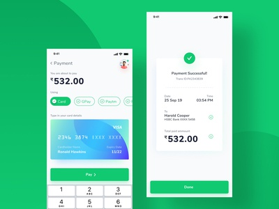 Credit Card Mobile Payment UI