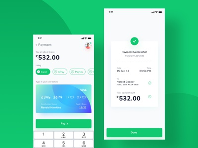 Credit Card Mobile Payment UI figmadesign ux mobile ui money transfer payment app creditcard ui uidesign uiux