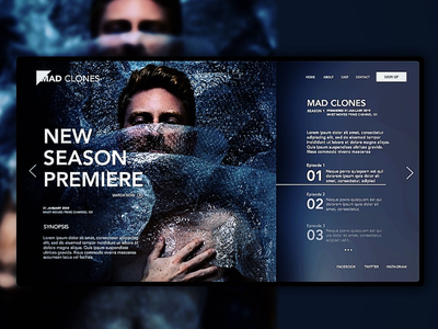 Exploring. A landing page for a show