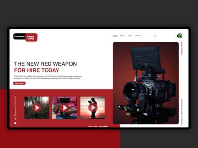 Camera Gear for hire UI