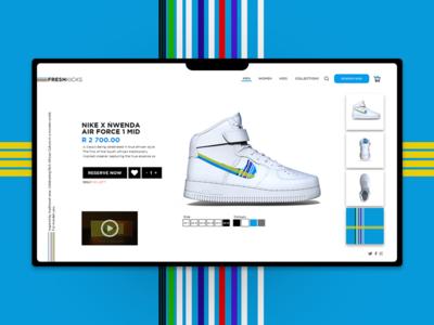 Nike X Nwenda south africa e-commerce ux design ui web